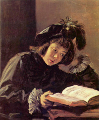Reading boy (Possibly a portrait of the artist's son)