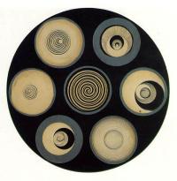 Disk bearing spirals