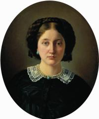 Портрет Варвары Александровны Иордан, урожденной Пущиной