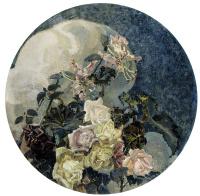 """Розы и лилии.  Триптих """"Цветы"""" для особняка Е.Д.Дункер в Москве. Левая часть триптиха"""