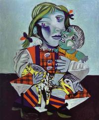 Майя, дочь Пикассо, с куклой