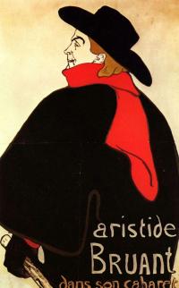 Аристид Брюан в своем кабаре