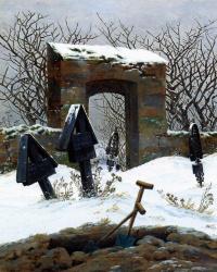 Cemetery under the snow