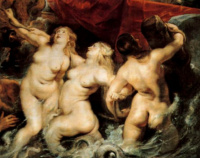 Питер Пауль Рубенс. Вступление Марии Медичи в Марсель