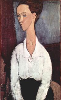 Портрет Лунии Чеховской в белой блузе