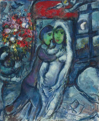 Marc Chagall. Lover with green face
