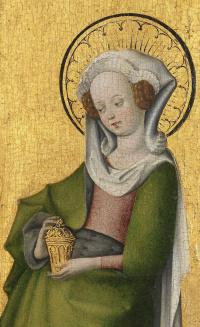 Holy Mary Magdalene. 1445-1450 detail