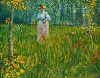 Винсент Ван Гог. Женщина идет по саду