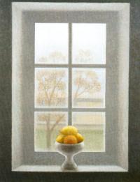 Хавьер Вальс. Ваза с лимонами на окне