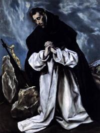 Эль Греко (Доменико Теотокопули). Молитва Святого Доминика