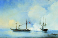 """Бой пароходофрегата """"Владимир"""" с турецко-египетским военным пароходом """"Перваз-Бахри"""" 5 ноября 1853 года"""