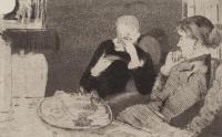 Лидия с матерью за чаем