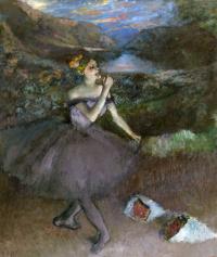 Балерина с букетами