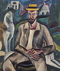 Portrait of artist Vladimir Rozhdestvensky