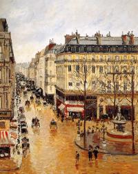 Камиль Писсарро. Улица Сент-Оноре. Полдень. Дождь