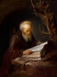 Геррит (Герард) Доу. Отшельник, читающий в пещере
