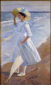 Елена на пляже