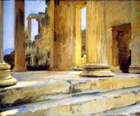 John Singer Sargent. A Sketch Of The Erechtheion, Athens