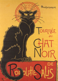 "Promotional poster of ""the Black cat"""