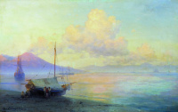 The Gulf of Naples in the morning