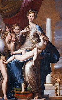 The Madonna with the long neck