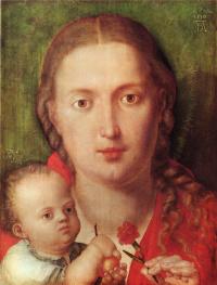Мария с гвоздикой