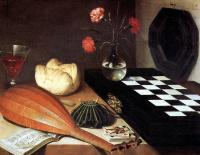 Luben Bozhen. Still life with chessboard