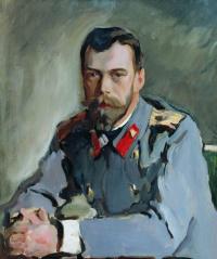 Portrait of Emperor Nicholas II (the Portrait of Nicholas II in the gray jacket)