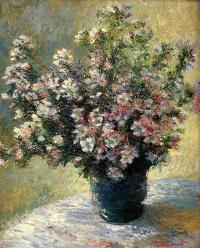 Claude Monet. Vase with flowers