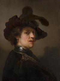 Портрет мужчины в берете с пером