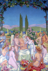 В присутствии богов Юпитер дарует Психее бессмертие