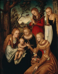 Лукас Кранах Старший. Святая Мария с Младенцем и святыми
