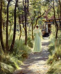 Педер Северин Крёйер. Мари в саду