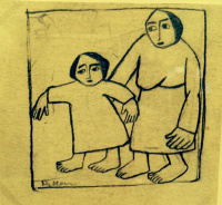 Jack Of Diamonds 21. Peasant woman and child