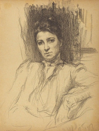 Portrait of the actress M. G. Savina. 1909