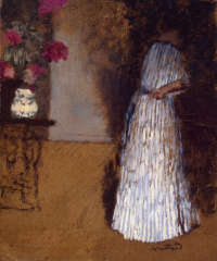 Молодая женщина в комнате