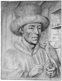 Портрет мужчины с соколом