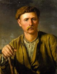 Василий Андреевич Тропинин. Украинец (Крестьянин с палицей. Портрет Яна Волянского)