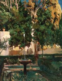 Хоакин Соролья (Соройя). Кипарис в саду султана, дворец Хенералифе в Гранаде