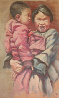 Chinese girl with a child