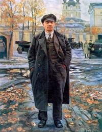 Исаак Израилевич Бродский. В. И. Ленин на фоне Смольного