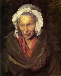 Crazy old woman