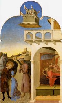 Святой Франциск и бедный рыцарь, и видение Франциска