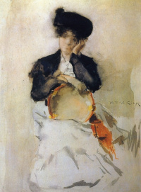 Girl with a tambourine