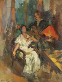 Evening duet