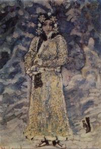"""The snow maiden. Costume design for the Opera N.. Rimsky-Korsakov """"The Snow Maiden"""""""