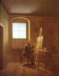 Caspar David Friedrich in his Studio