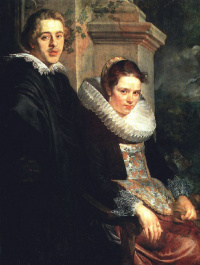 Якоб Йорданс. Портрет молодой супружеской пары