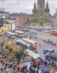 """Leningrad: on the former Haymarket"""