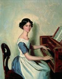 Portrait of Nadezhda Petrovna Zhdanovich at the piano